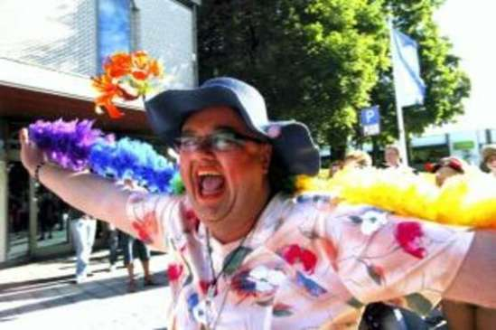 Fra homoparaden i Porsgrunn i2006